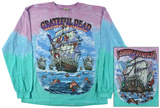 Grateful Dead-Ship Of Fools Long Sleeve Womens: David Bowie - Aladdin Sane (dolman) David Bowie- Aladdin Sane Grateful Dead - Spiral Bears Pink Floyd- Wish You Were Here Cigar Label Grateful Dead - Grateful Dead On Deck The Rolling Stones - Europe 76 Queen - Band KISS - New York Yankees Dressed to Kill AC/DC- Hells Bells V-Dye (Front/Back) Pink Floyd - Dark side of the moon Slash - Top Hat