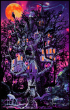Opticz Treehouse Blacklight Poster Mushroom Man Timberwolves Flocked Blacklight Poster