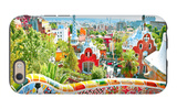 The Famous Summer Park Guell Over Bright Blue Sky In Barcelona, Spain The Birth of Venus Day of the Dead - Crossbones Cirque du Brun I