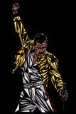 Freddie Mercury Queen - Brazil 81 Notorious Big band posters