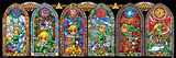 The Legend Of Zelda- Link D'Art The Legend of Zelda- Stained Glass Hyrule Retro Travel Poster Zelda- Breath of the Wild Zelda