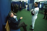 President George W. Bush Derek Jeter before the First Pitch in Game 3 of the World Series New York Yankees SS Derek Jeter - October 6, 2006 derek+jeter
