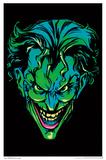 Batman- Neon Joker Blacklight Poster Joker Batman Comic - Joker Bats Joker