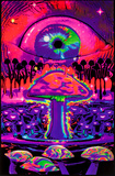 Mushroom Ripple Blacklight Poster We're All Mad Here Wormhole Blacklight Poster Print
