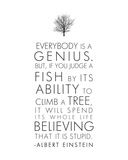 Everybody is a Genius The Wisdom of a Genius Albert Einstein Albert Einstein Great Minds Motivational Poster Life Is Like a Bicycle Imagination Nebula - Albert Einstein Quote Albert Einstein Genius Quote Einstein Curiosity You Never Fail Until You Stop Trying albert+einstein+quotes