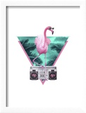 Miami Flamingo Reproduction encadrée par Robert Farkas