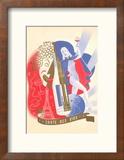 Carte des Vins, Poster Reproduction encadrée
