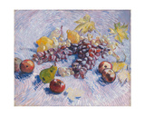 Grapes  Lemons  Pears  and Apples  1887