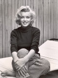 Portrait of Marilyn Monroe at Home Aluminium par Alfred Eisenstaedt