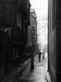 Students Walking Along Magpie Lane at Oxford University