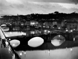 Bridges across the Arno River at Night