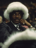 Fan of Mohammed Ali Wearing a Fur Hat at Clay-Bonavena Fight at Madison Square Garden