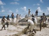 Bahia Fisherman on Beach with their Nets