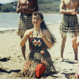 Maoris Performing Traditional Dances  New Zealand