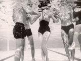 Underwater Shot of Actress Daphne Dayle in Topless  One Piece Swim Suit by Designer Ruben Torres