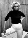 Actress Marilyn Monroe at Home Aluminium par Alfred Eisenstaedt
