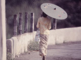 Indonesian Woman with a Parasol