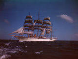 "Joseph Davies' Yacht ""Sea Cloud"" in the Caribbean"