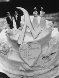 Wedding Cake Adorned with Homosexual Couples  Protesting New York City's Refusal to Wed Homosexuals