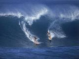 Surfers  Sunset Beach  Oahu  Hawaii