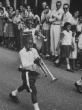 Young Boys Playing Trumpets in a Parade