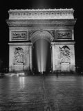 View of the Arc de Triomphe Lit at Night on Bastille Day