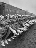 Texas Rangerettes Performing During Inauguration Festivities for Dwight D Eisenhower