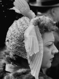 Woman Wearing Bird Decoration in Hair at Dwight D Eisenhower's Inauguration