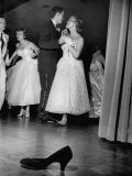 Sally Nyvall and Dick Gaudette Improvise on Dance Floor while Sue Nyvall Gazes at Mike Murphy