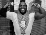 Mr T Flexing  Showing off Muscles and Jewelry