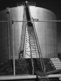 Oil Storage Tank at Standard Oil of Louisiana During WWII