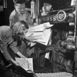 100th Anniversary Edition of Chicago Tribune Coming Out of Machine