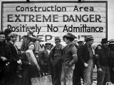 Construction Area: Extreme Danger  Positively No Admittance  Keep Out  at Grand Coulee Dam