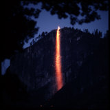 Firefall from Glacier Point at Yosemite National Park