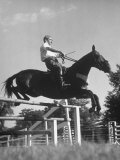 Capt Theodore Galiza  Russian Riding Master  Taking Triple Bars  Horse Show Organized