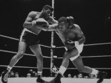 Floyd Patterson  and Sonny Liston During Championship Fight in Won by Liston in 1 1/2 Minutes