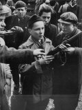 Budapest Boys Carrying Rifles to Fight with Hungarian Freedom Fighters Against Soviet-Backed Regime
