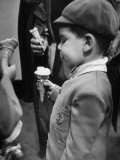Boy Eating Ice Cream Cone at the Circus in Madison Square Garden