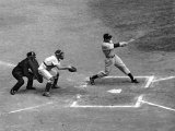 New York Yankee Joe Di Maggio Swinging Bat in Game Against the Philadelphia Athletics