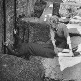 Woman Kissing the Blarney Stone