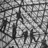 Workmen Covering Top of the Geodesic Dome  Ford Rotunda Outside their River Rouge Plant