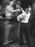 Revolving-Head Man Martin Laurello at Party Held for Robert Ripley's Oddities