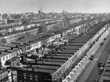 Aerial View of Town Houses in Baltimore Papier Photo par Dmitri Kessel