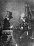 Portrait Study of Chess Players  to Show How Negatives Can Be Used to Make Any Number of Positives