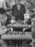 Men Playing Chess in Central Park