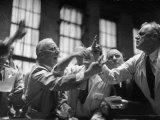 Men Arguing over Stock Exchanges