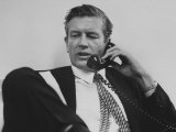 Mayor John V Lindsay Talking on the Telephone in His Office