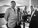 Dr Werner Von Braun and Paul Horgan with a Piece from the Goddard Rocket Collection