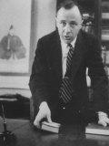 Physicist John A Wheeler Attending a Meeting