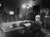 President Dwight D Eisenhower Presenting His Farewell Address to the Nation